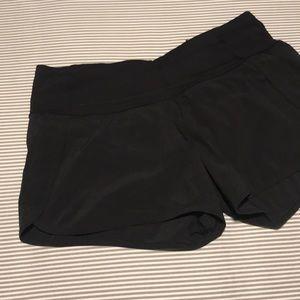 Lululemon mid-rise black running shorts